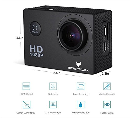 icefox fhd unterwasser action kamera 12mp 1080p. Black Bedroom Furniture Sets. Home Design Ideas