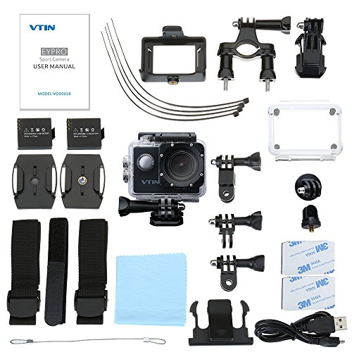 action kamera wifi 2 0 zoll vtin full hd 1080p sport. Black Bedroom Furniture Sets. Home Design Ideas